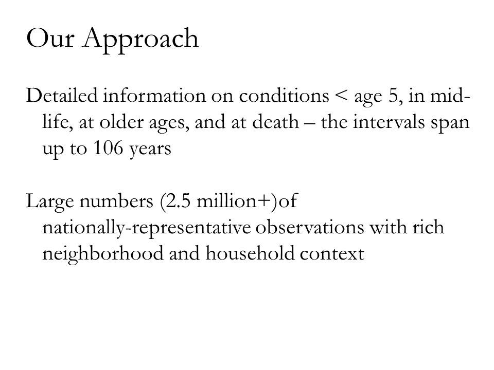 Conclusions and Future Directions 1.Month of birth matters, effect varies by age/sex 2.