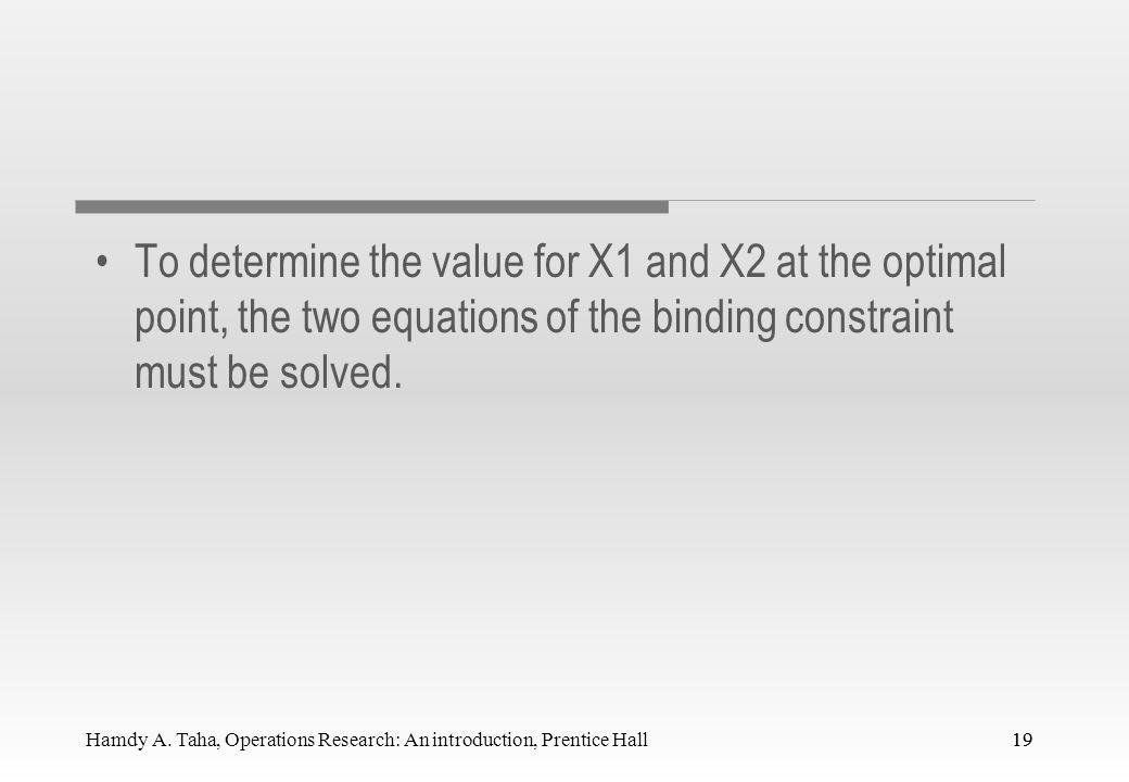 18 1200 600 The Plastic constraint Feasible The plastic constraint: 2X1+X2<=1200 X2 Infeasible Production Time 3X1+4X2<=2400 Total production constraint: X1+X2<=800 600 800 Production mix constraint: X1-X2<=450 X1 A (0,600) E (0,0) B (480,240) C (550,100) D (450,0)