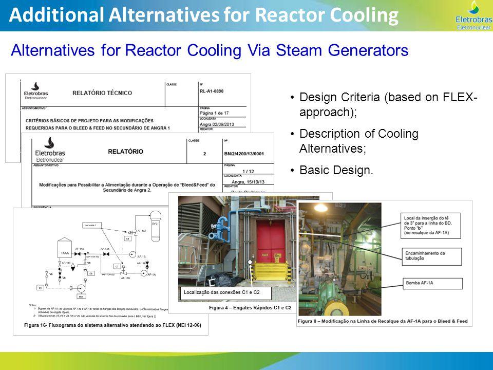 Additional Alternatives for Reactor Cooling Alternatives for Reactor Cooling Via Steam Generators Design Criteria (based on FLEX- approach); Descripti
