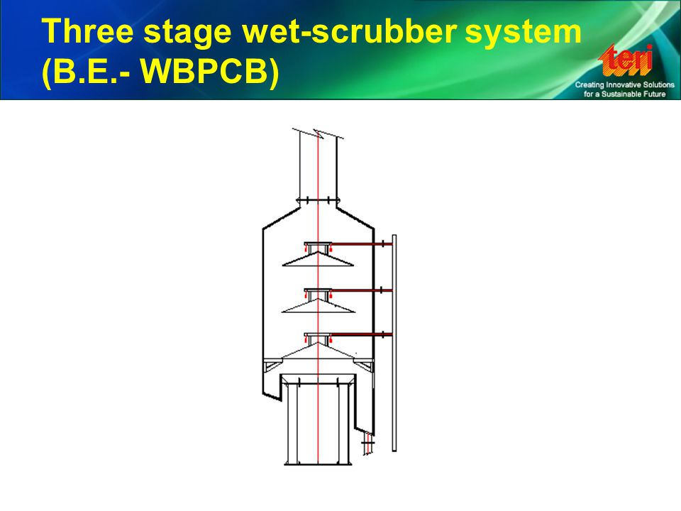 Three stage wet-scrubber system (B.E.- WBPCB)
