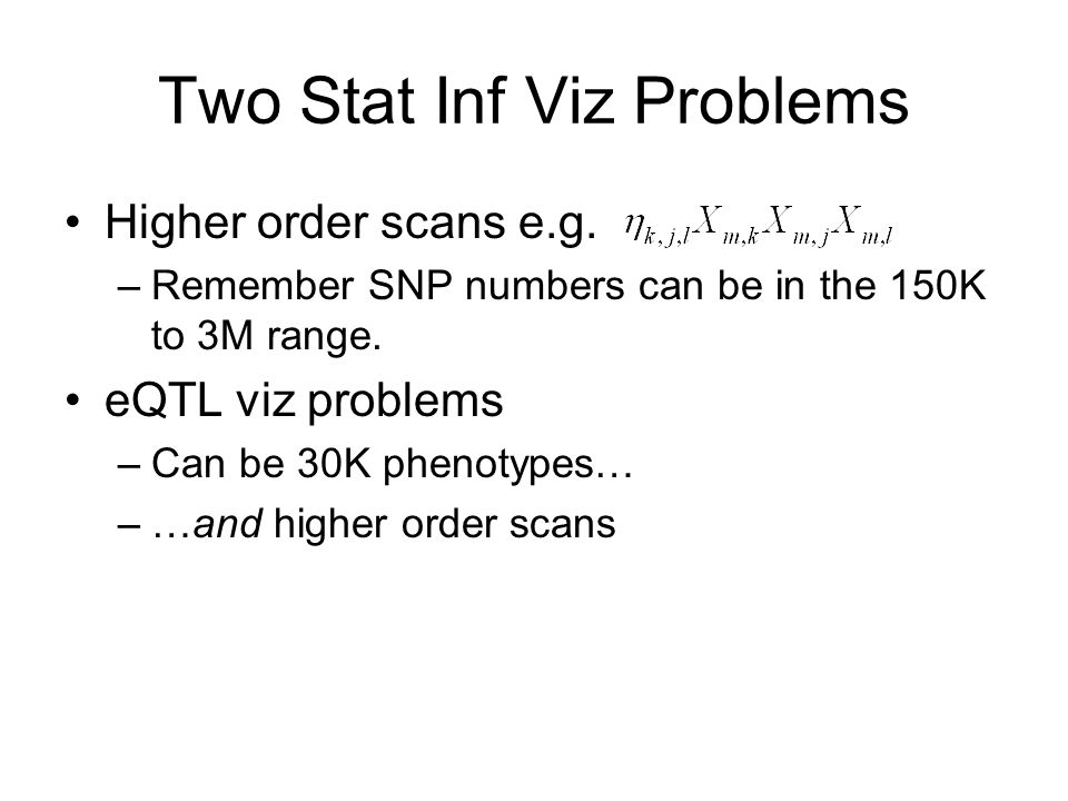 Two Stat Inf Viz Problems Higher order scans e.g.