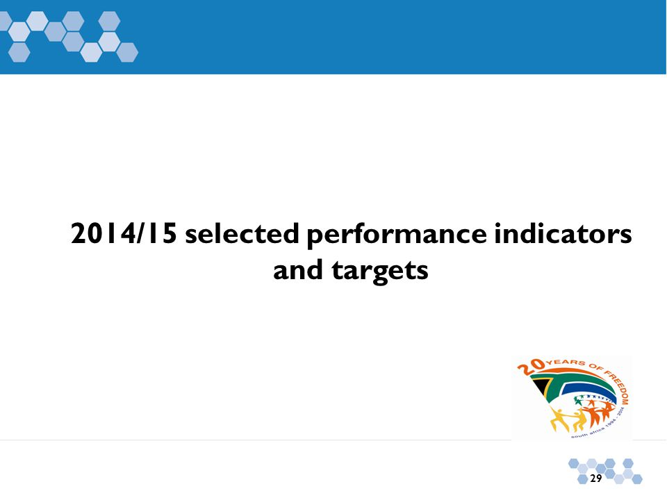 2014/15 selected performance indicators and targets 29