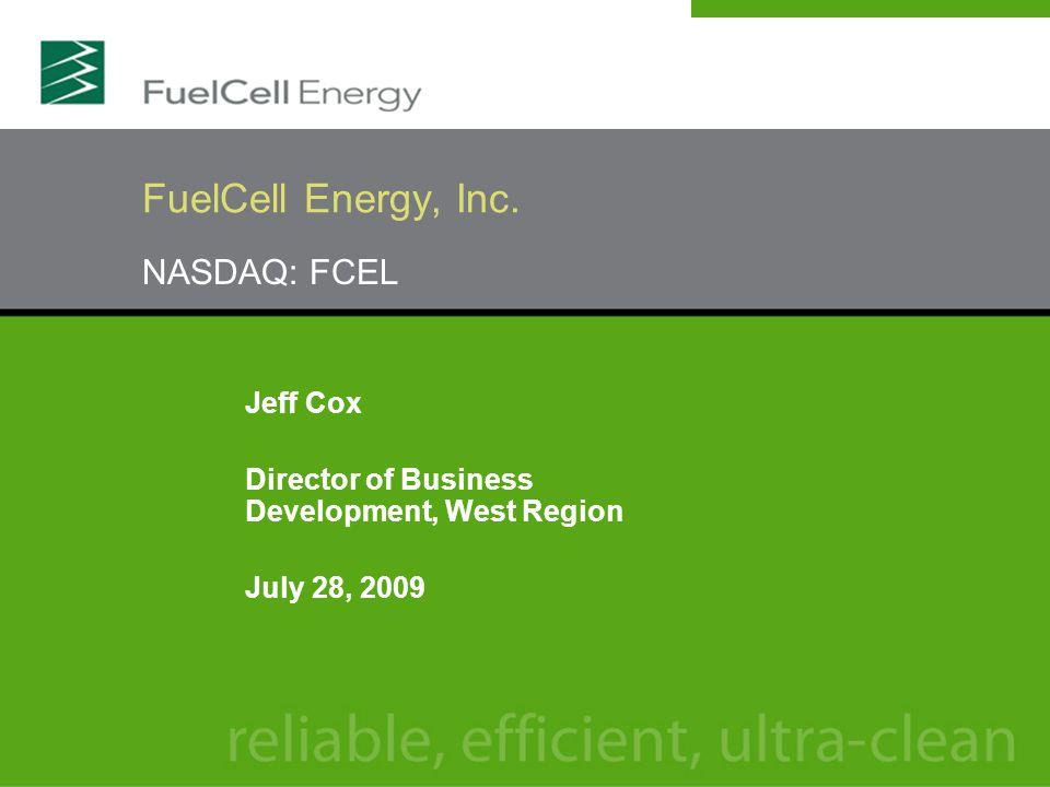 NASDAQ: FCEL FuelCell Energy, Inc.