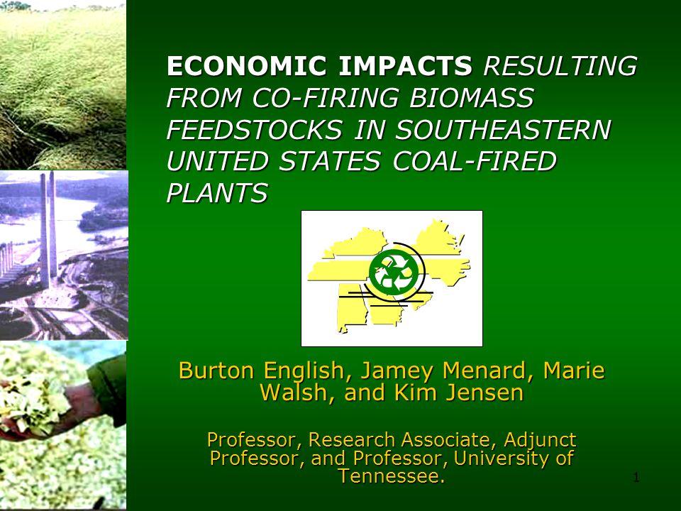 1 Burton English, Jamey Menard, Marie Walsh, and Kim Jensen Professor, Research Associate, Adjunct Professor, and Professor, University of Tennessee.