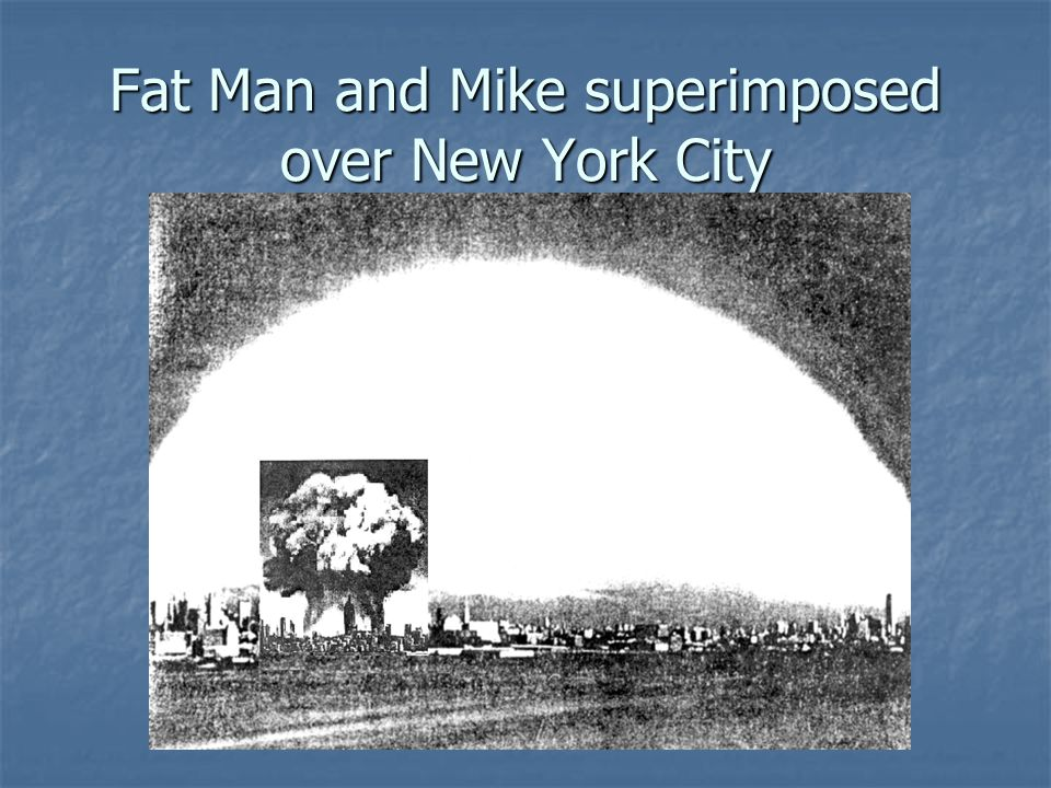 Fat Man and Mike superimposed over New York City