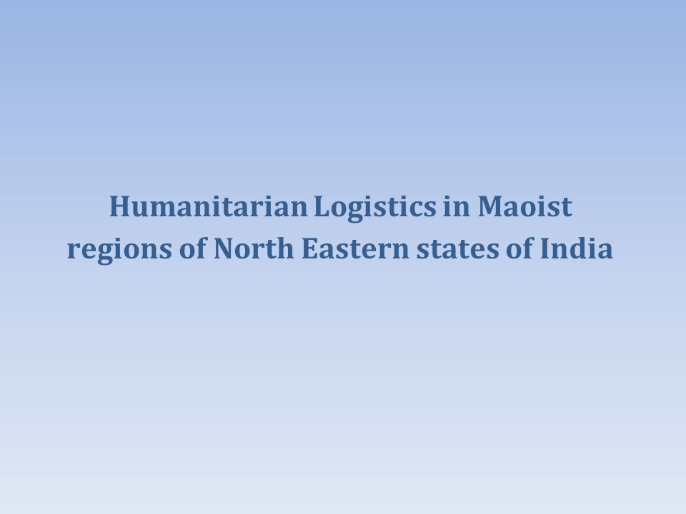 Budget 2013: Finance Minister stresses on waterways connectivity for these states Opportunities in Humanitarian logistics