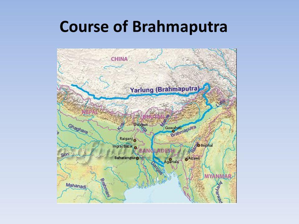 Course of Brahmaputra
