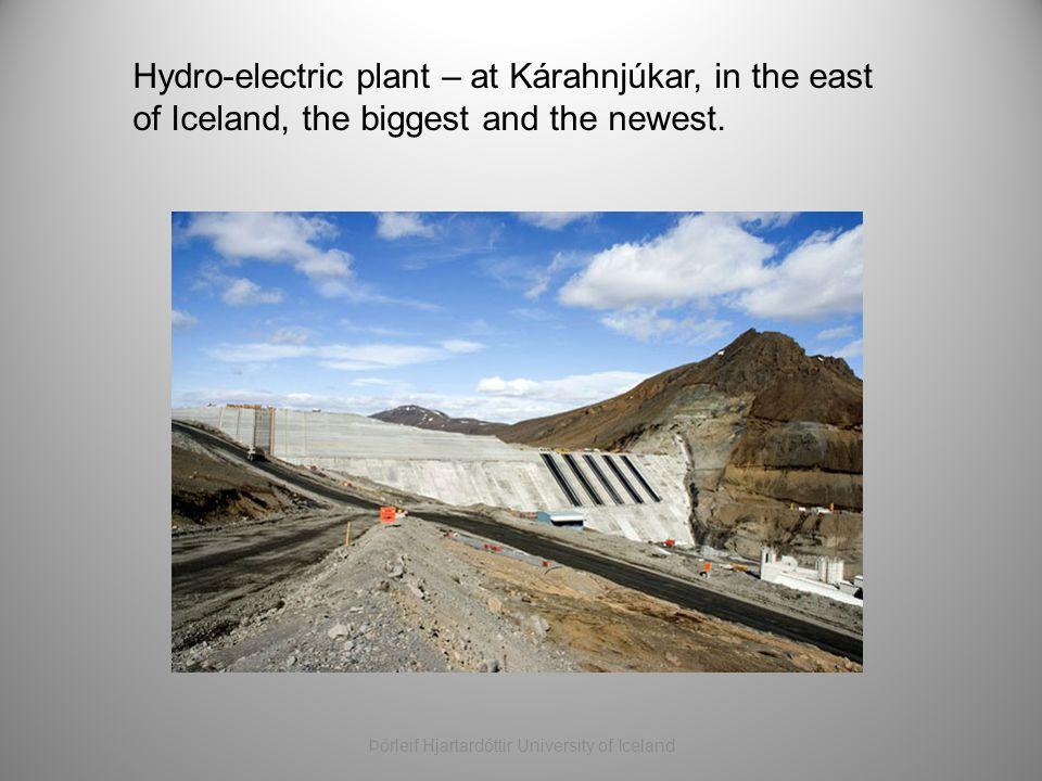 Hydro-electric plant – at Kárahnjúkar, in the east of Iceland, the biggest and the newest. Þórleif Hjartardóttir University of Iceland