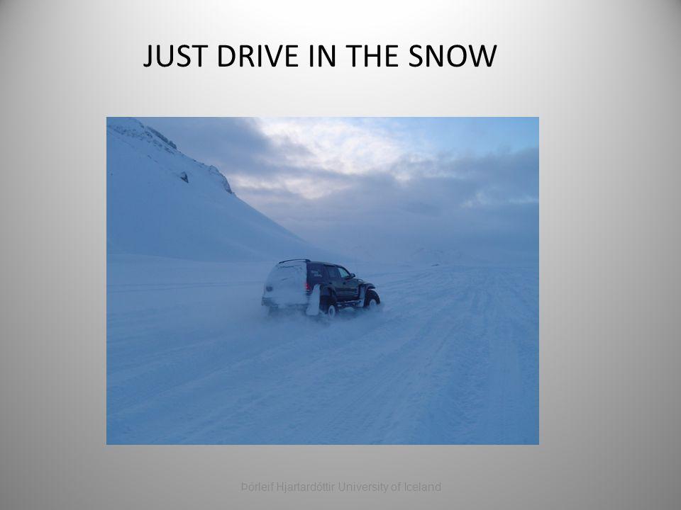 JUST DRIVE IN THE SNOW Þórleif Hjartardóttir University of Iceland