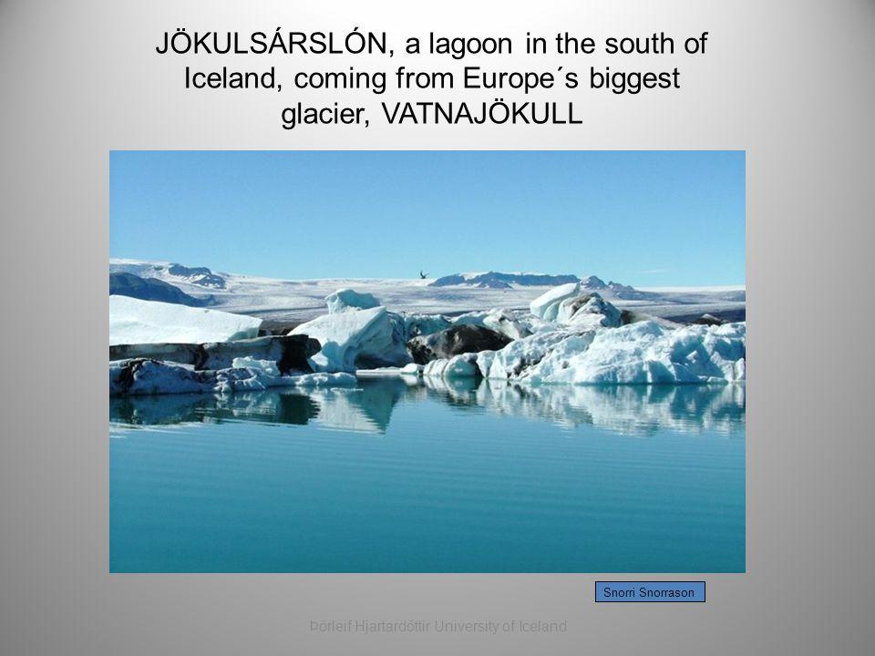 Snorri Snorrason JÖKULSÁRSLÓN, a lagoon in the south of Iceland, coming from Europe´s biggest glacier, VATNAJÖKULL Þórleif Hjartardóttir University of