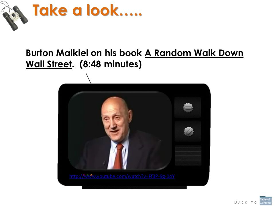 Take a look….. Burton Malkiel on his book A Random Walk Down Wall Street.