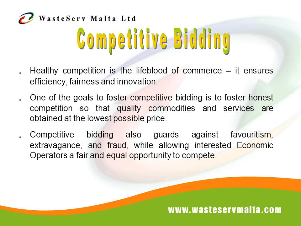 Healthy competition is the lifeblood of commerce – it ensures efficiency, fairness and innovation..