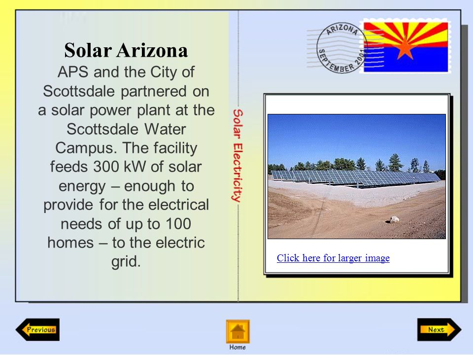 Solar Arizona APS and the City of Scottsdale partnered on a solar power plant at the Scottsdale Water Campus.