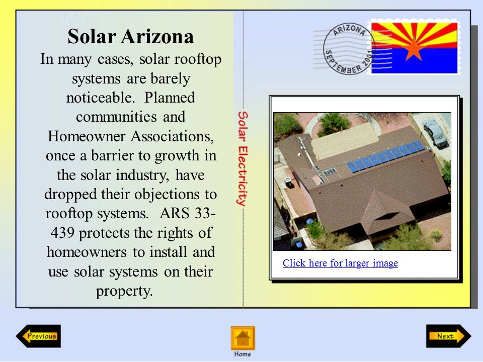 Solar Arizona In many cases, solar rooftop systems are barely noticeable.
