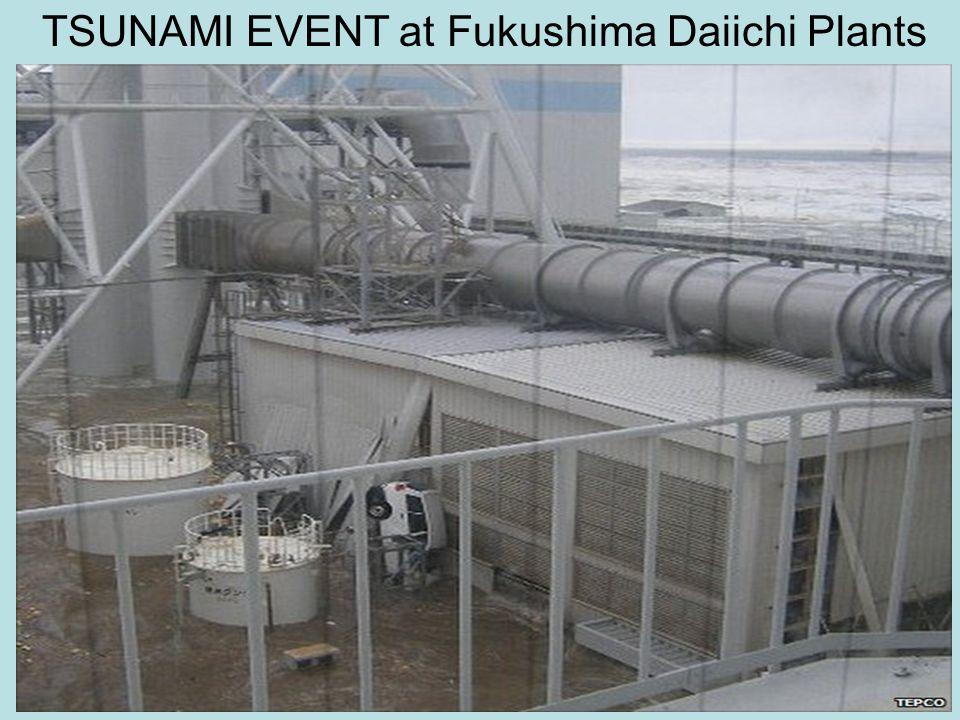 TSUNAMI EVENT at Fukushima Daiichi Plants