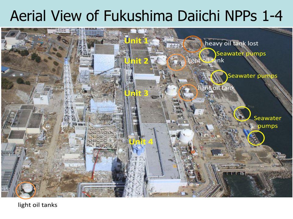 Aerial View of Fukushima Daiichi NPPs 1-4