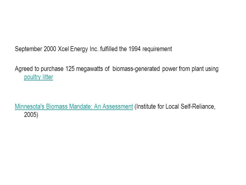 September 2000 Xcel Energy Inc.