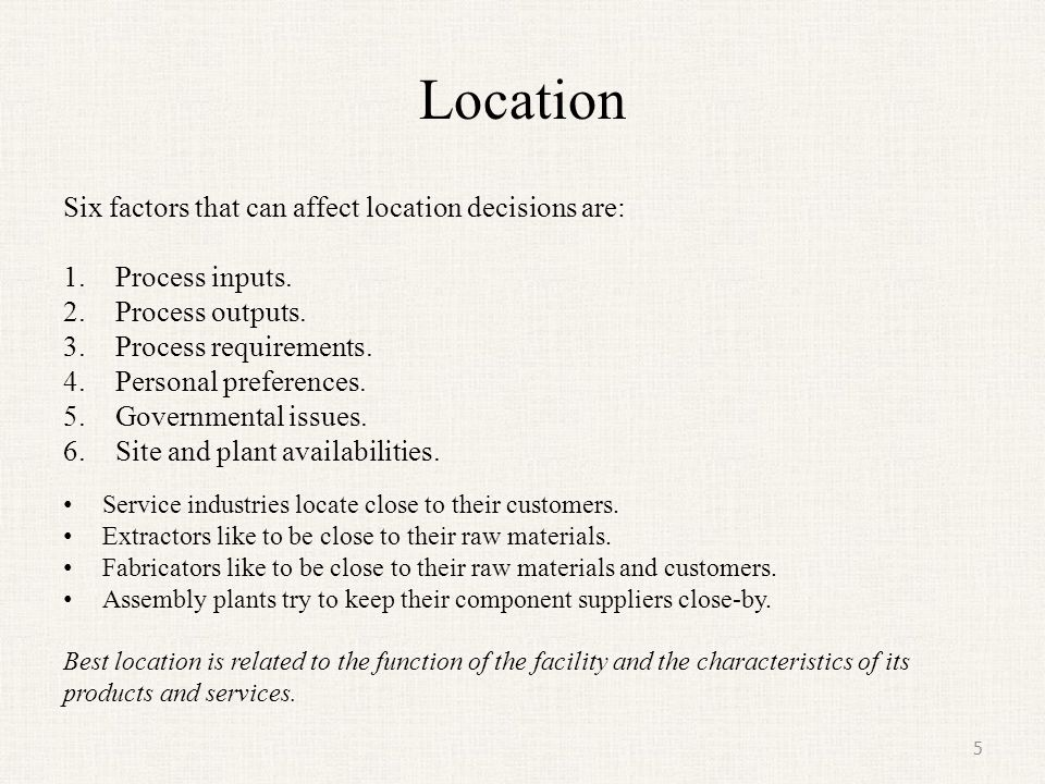 Location - Transportation Model (continued) 16 Origins and Destinations In Transportation Model terminology, shippers are called sources or origins.