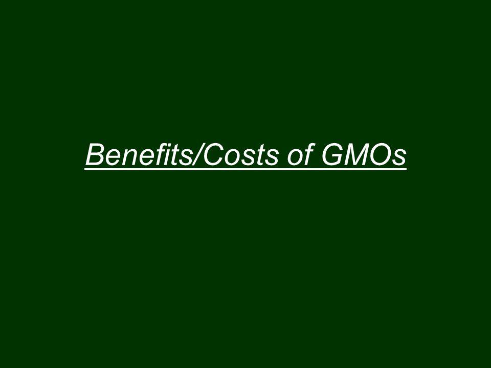 Benefits/Costs of GMOs