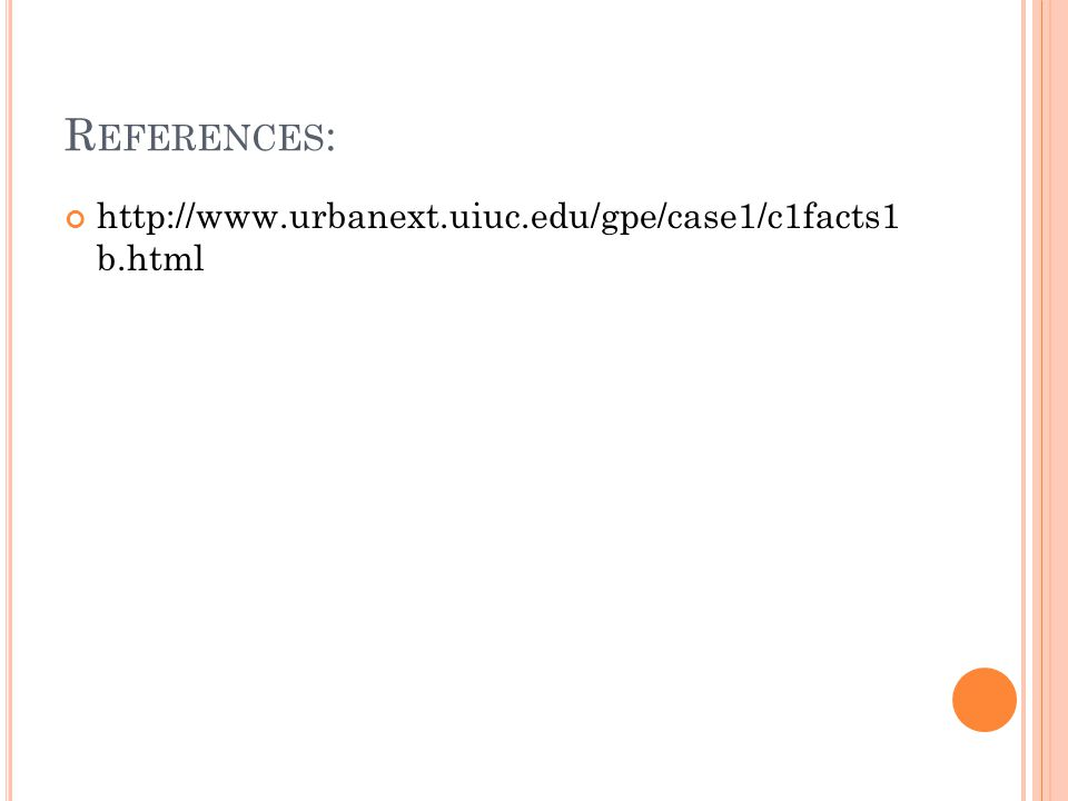 R EFERENCES : http://www.urbanext.uiuc.edu/gpe/case1/c1facts1 b.html