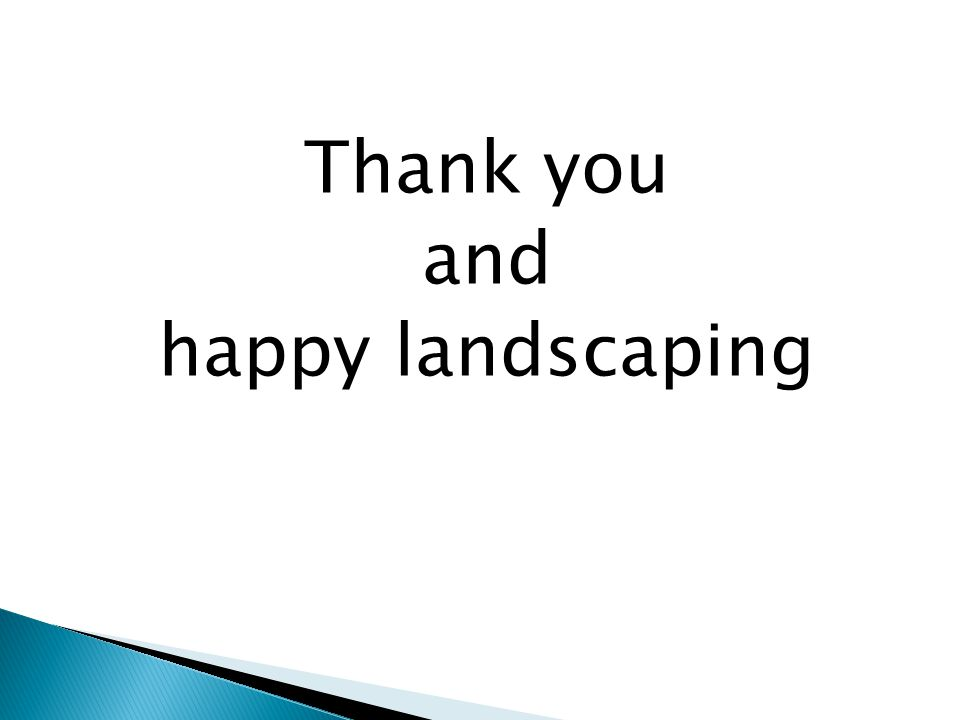 Thank you and happy landscaping