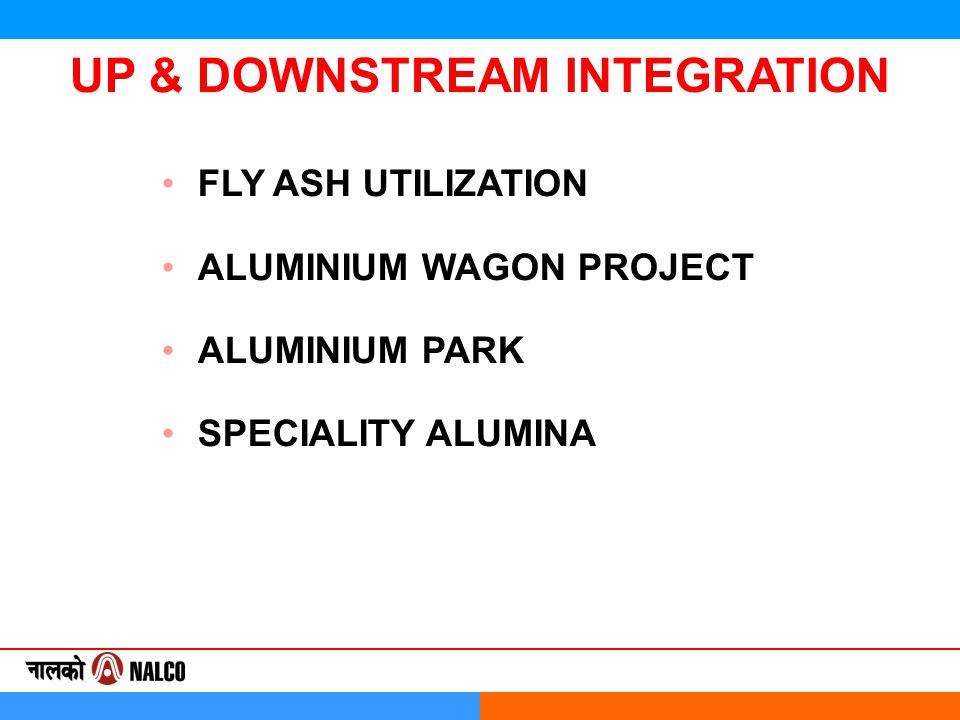 FLY ASH UTILIZATION ALUMINIUM WAGON PROJECT ALUMINIUM PARK SPECIALITY ALUMINA UP & DOWNSTREAM INTEGRATION