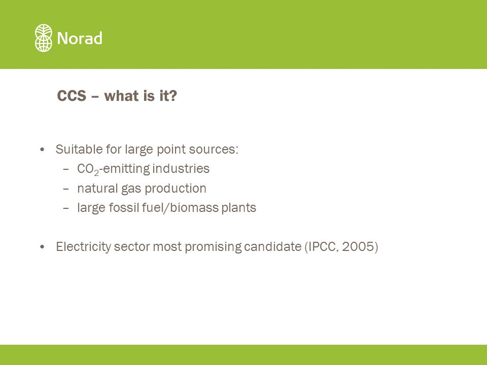 CCS – what is it.