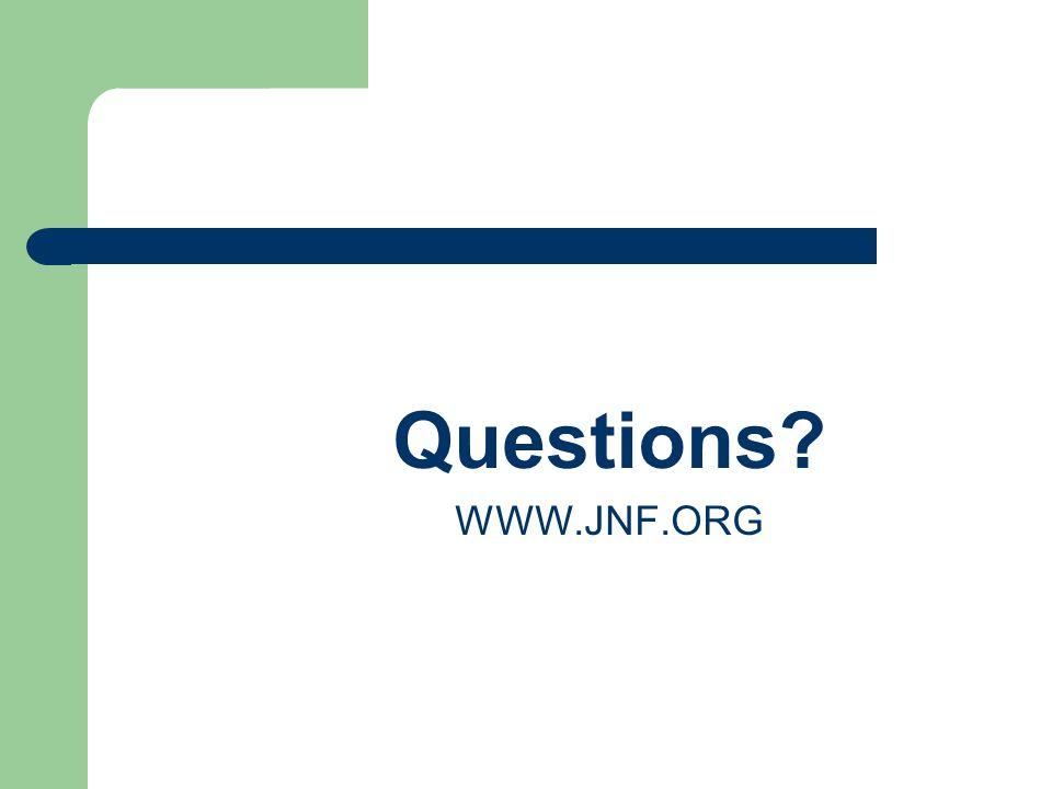 Questions WWW.JNF.ORG