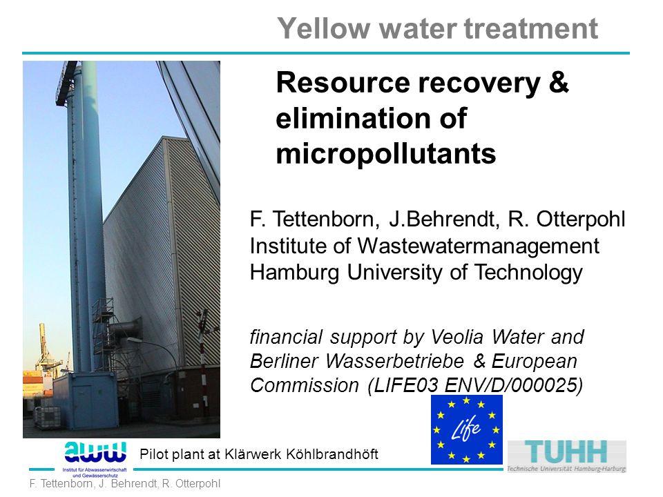 Yellow water treatment F.Tettenborn, J. Behrendt, R.