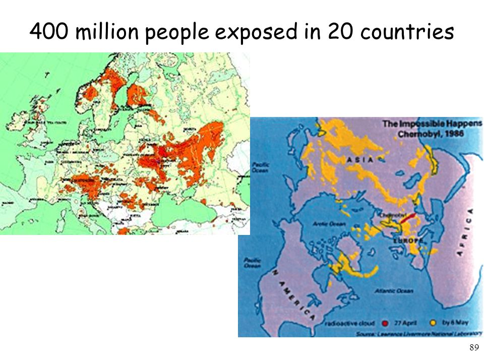 89 400 million people exposed in 20 countries
