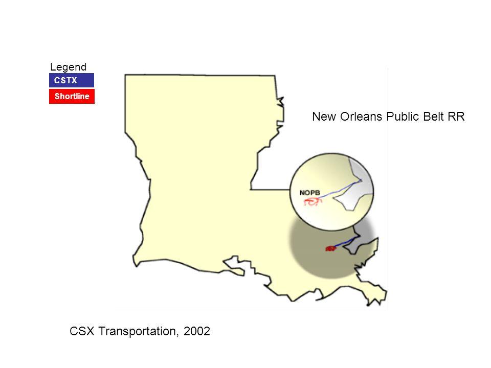 New Orleans Public Belt RR Legend CSTX Shortline CSX Transportation, 2002