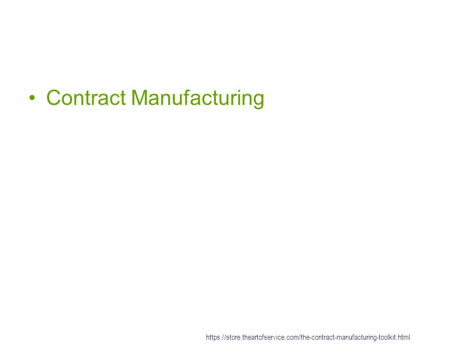 Contract Manufacturing https://store.theartofservice.com/the-contract-manufacturing-toolkit.html