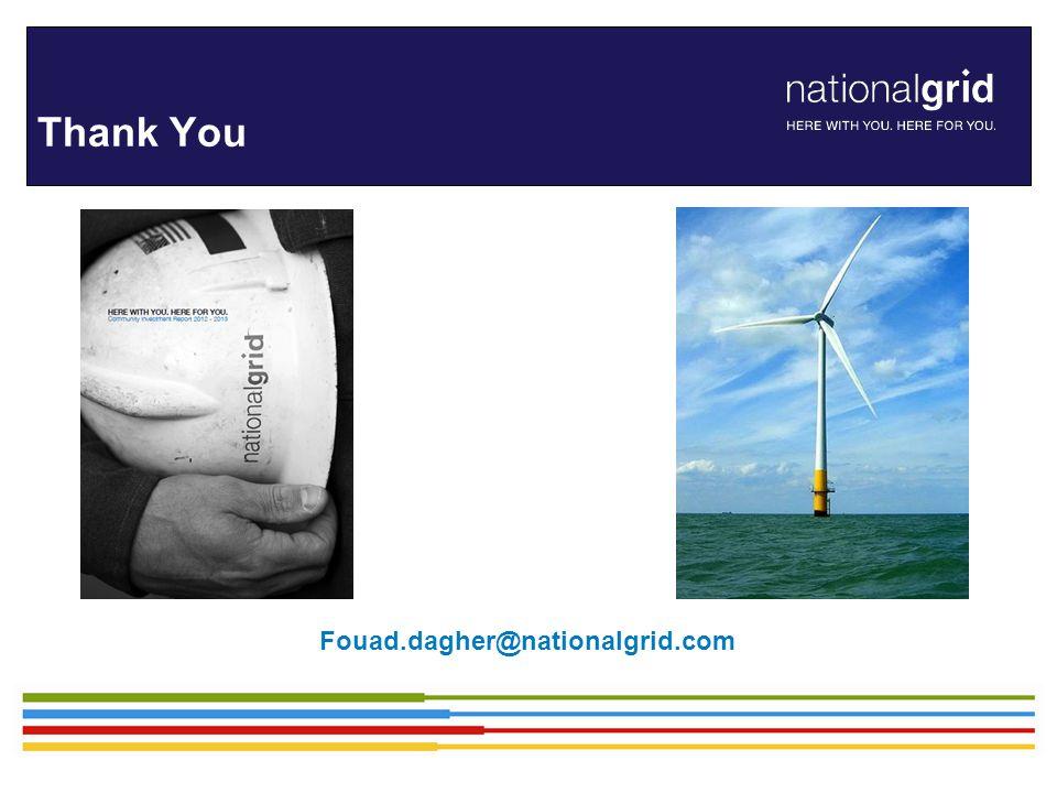 Thank You Fouad.dagher@nationalgrid.com