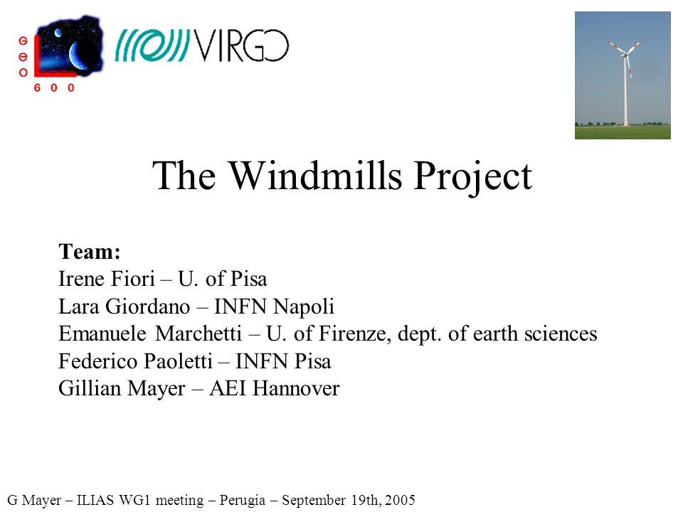 The Windmills Project Team: Irene Fiori – U.