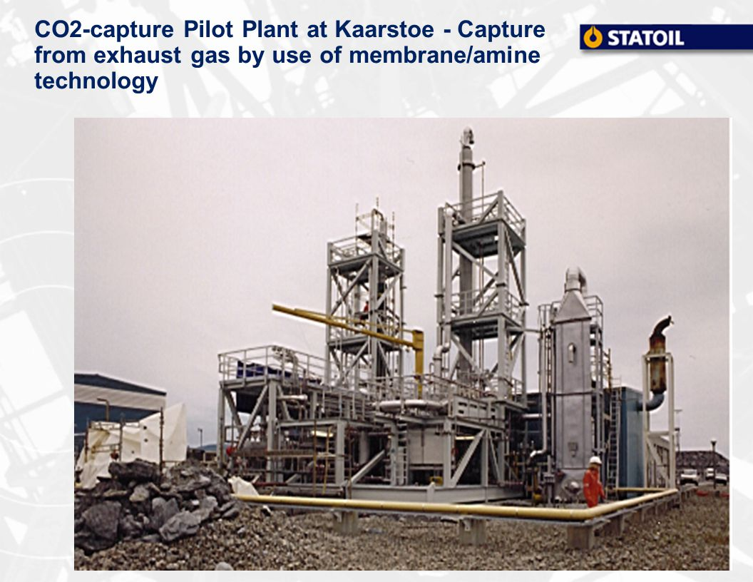 CO2-capture Pilot Plant at Kaarstoe - Capture from exhaust gas by use of membrane/amine technology