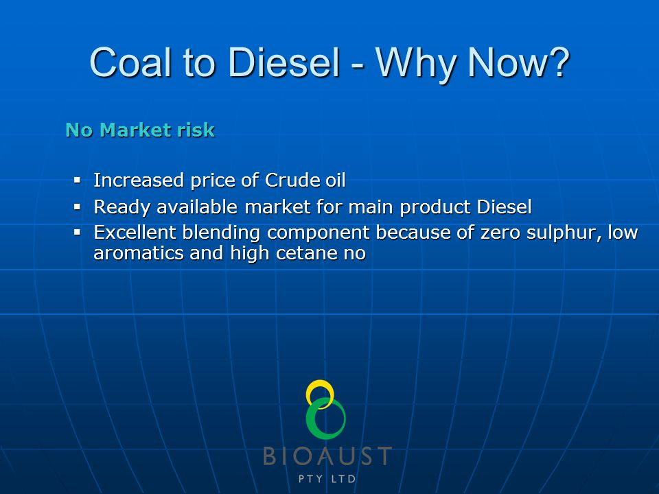 Coal to Diesel - Why Now.