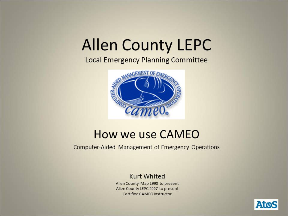 Services provided to communities by the LEPC Workshops for reporting facilities Software training for responders Emergency response plan This list is in regard to CAMEO and not a complete list of services provided by the LEPC