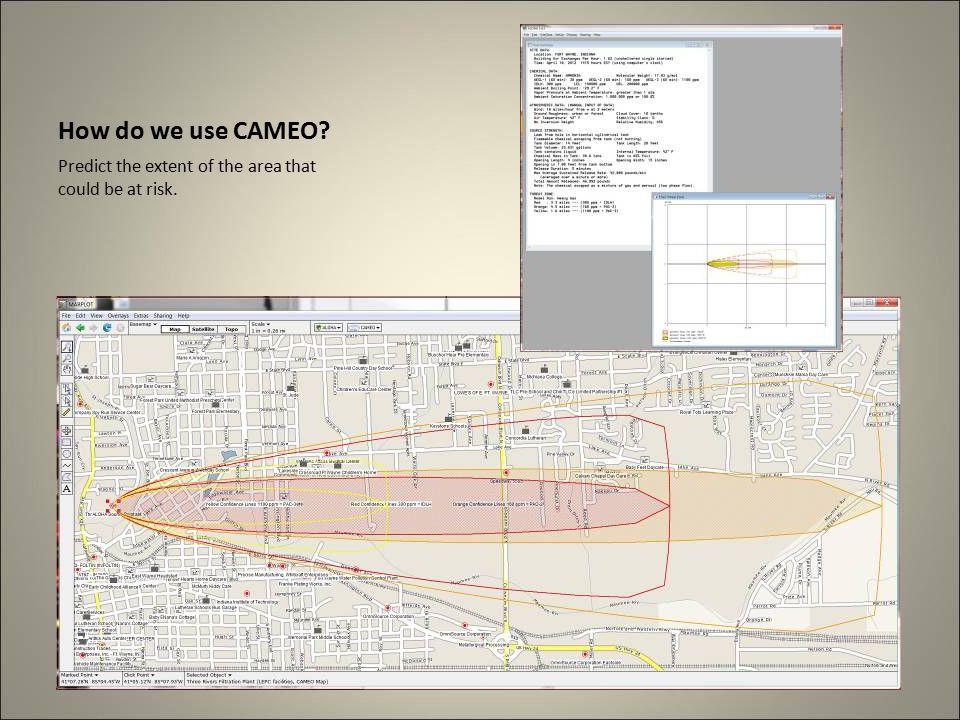 How we use CAMEO Share the data through GIS