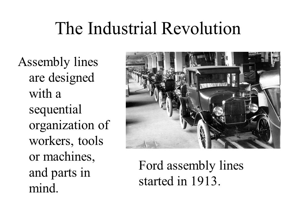 The Industrial Revolution Society was transformed by the invention of the steam engine. Where before the steam engine, work was performed by hand labo