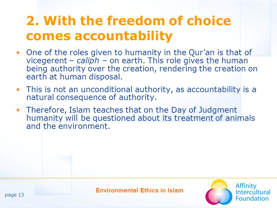 page 13 Environmental Ethics in Islam 2.