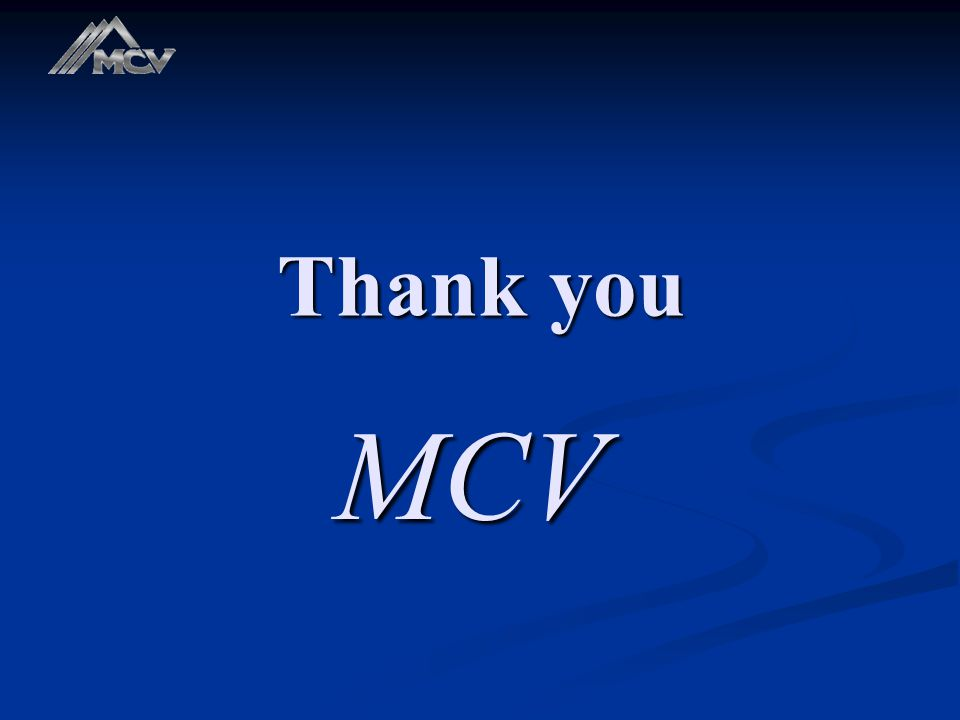 Thank you MCV