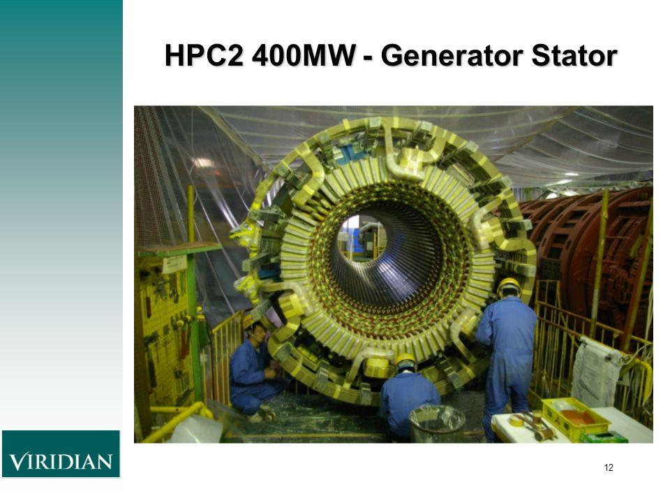 12 HPC2 400MW - Generator Stator