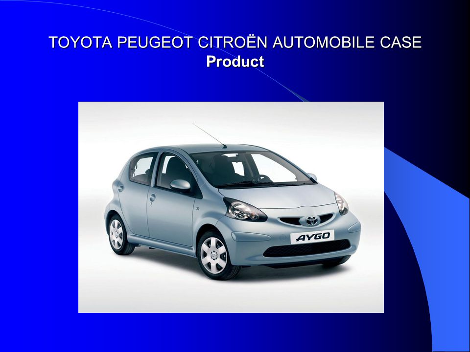TOYOTA PEUGEOT CITROËN AUTOMOBILE CASE Product