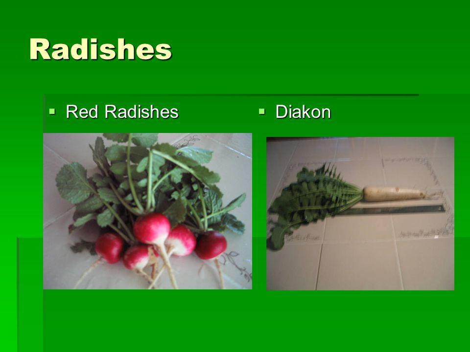 Radishes  Red Radishes  Diakon