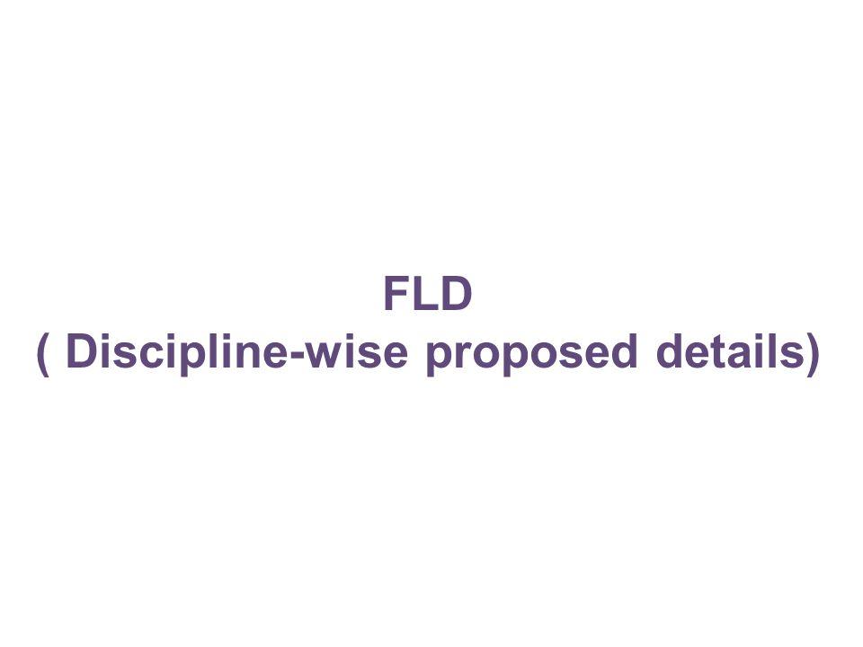 FLD ( Discipline-wise proposed details)