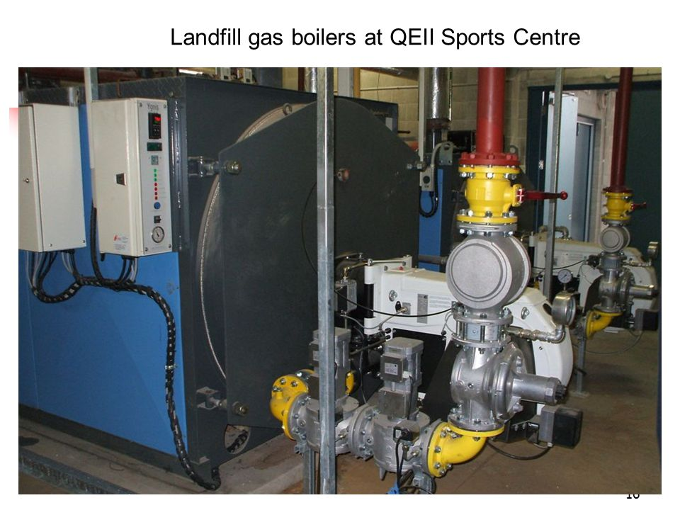 16 Landfill gas boilers at QEII Sports Centre