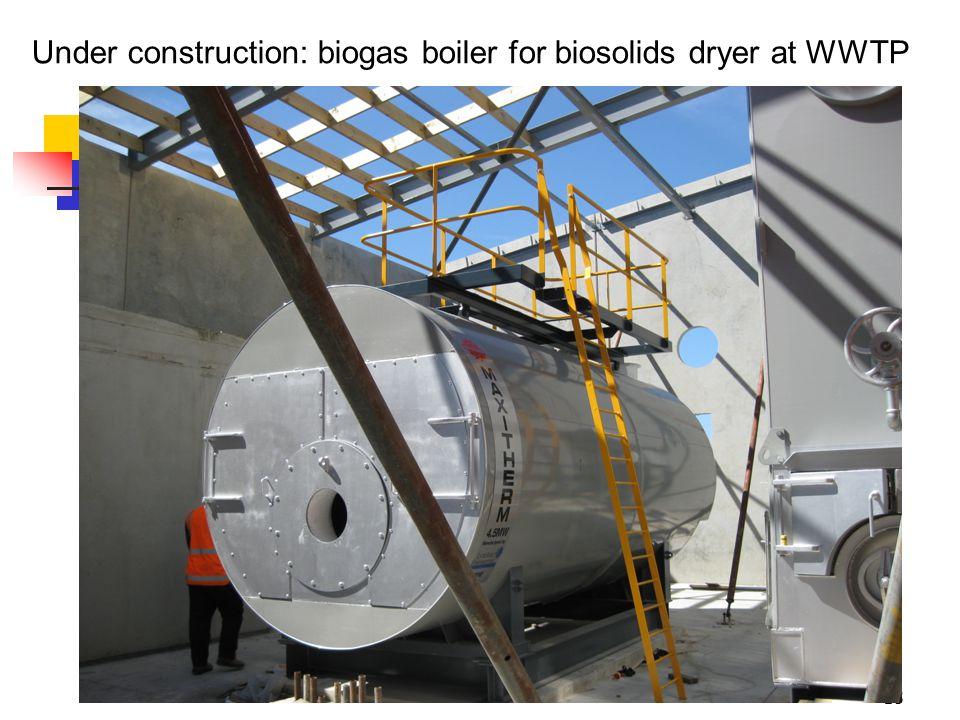 18 Under construction: biogas boiler for biosolids dryer at WWTP