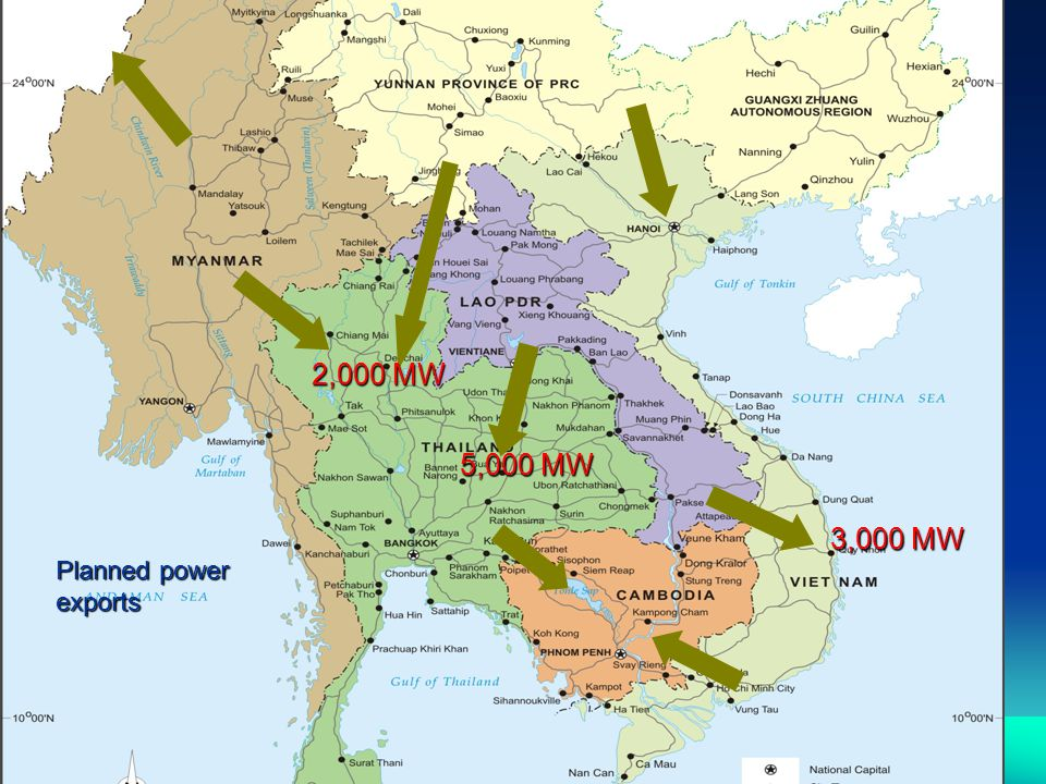 3,000 MW 5,000 MW 2,000 MW Planned power exports