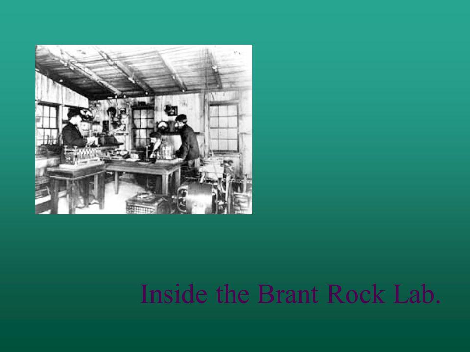 Inside the Brant Rock Lab.
