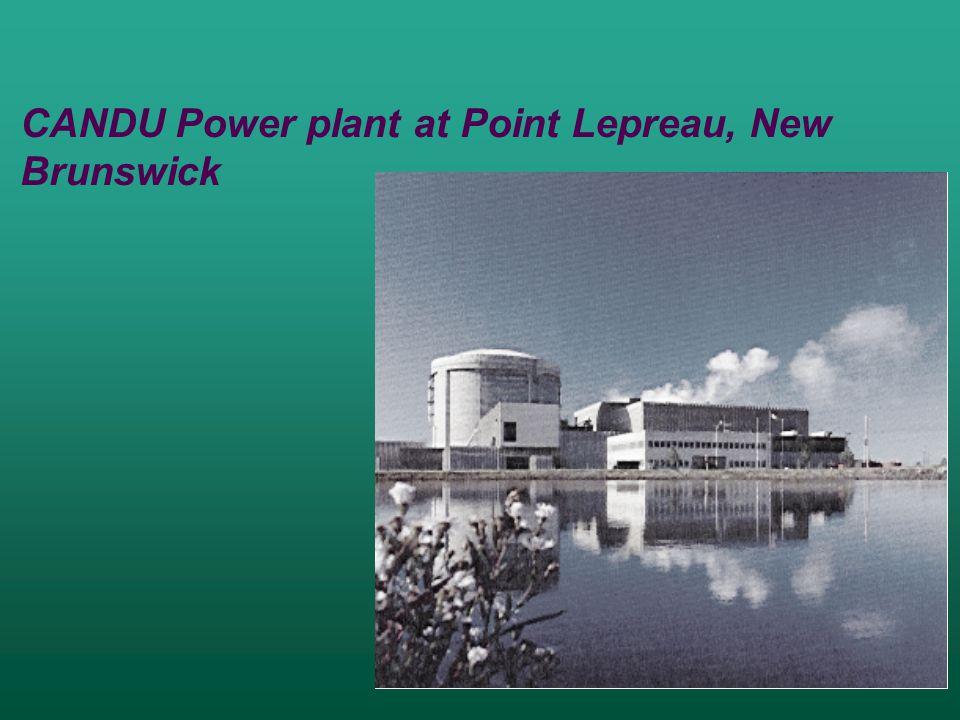 CANDU Power plant at Point Lepreau, New Brunswick